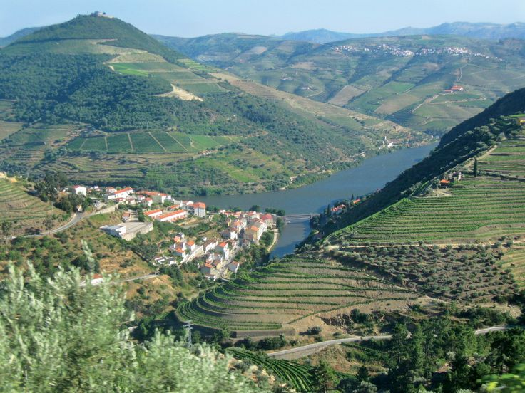 Douro River valley in Spain and Portugal