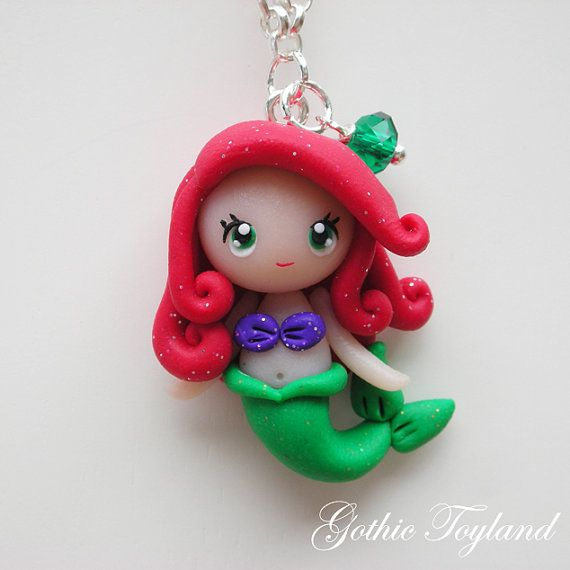 Kawaii Cuties Sweet Ariel Mermaid Pendant with by GothicToyland, €15,00