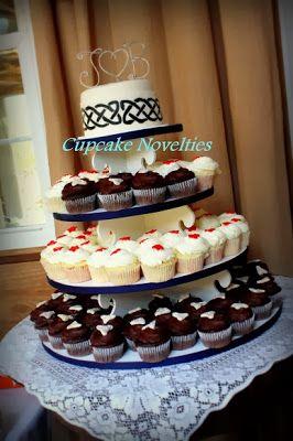 Celtic Inspired Wedding Cupcake Tower At Khimaira Farm Luray Novelties Fairfax