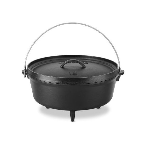 Lodge Camping Dutch Oven ($96) ❤ liked on Polyvore featuring home, kitchen & dining, cookware, castiron cookware, chili pot, lodge griddle, cast iron dutch oven and non-stick cookware