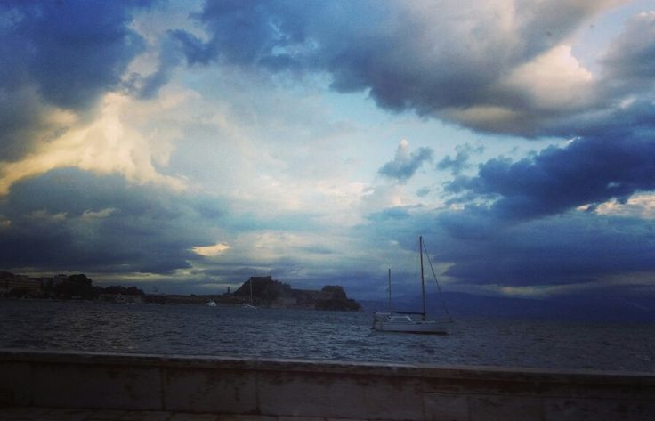 Even with a sky covered In rainy clouds, #Corfu you are a beauty! #greece