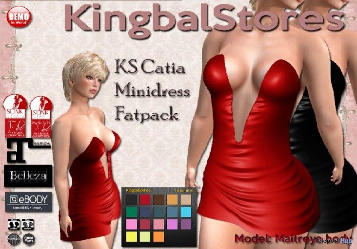 Catia Mini Dress Fatpack Teleport Hub Group Gift by KingbalStores