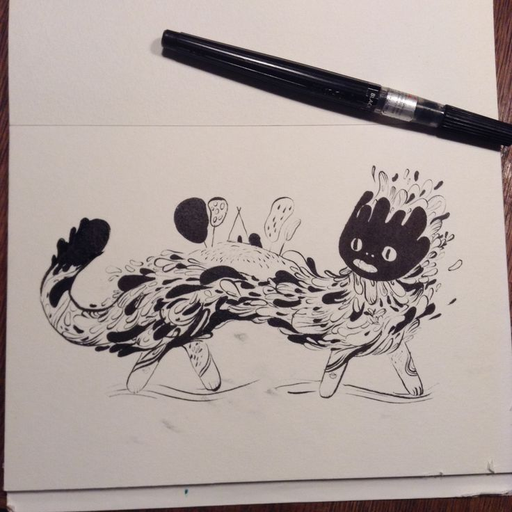 I plan to share ink drawing on Sunday's and Wednesday's throughout October, inktober!
