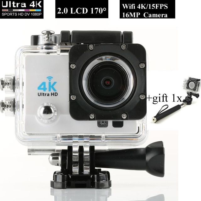 New WIFI 4K Ultra HD DV Mini Camcorders Sports Cameras 4k 15FPS 1080P 60fps 16MP Pixel 170 Lens 2 LCD Diving 30M Helmet Cam US $58.88-76.64 To Buy Or See Another Product Click On This Link  http://goo.gl/EuGwiH