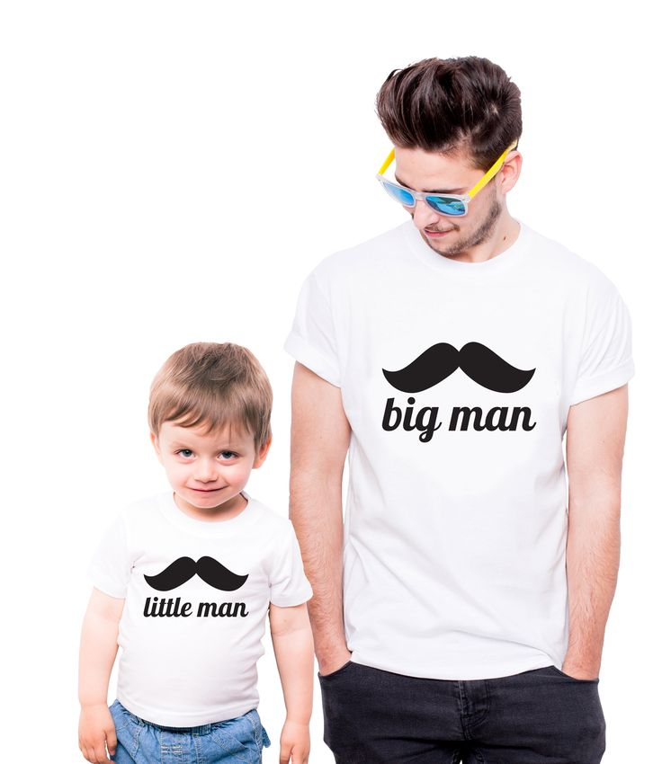 T-shirt little man big man @allprints #allprints_