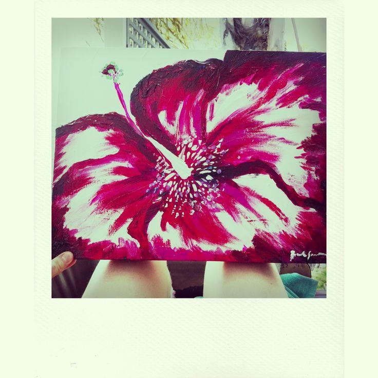 Crimson Hibiscus - By Bronte Goodieson
