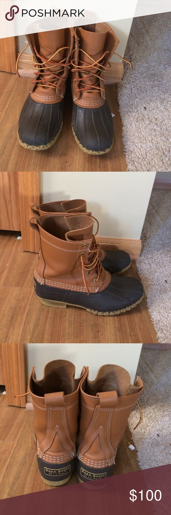 LL Bean Boots Thinsulate Size 5M with thinsulate! Fits like a women's 7.5. Received for Christmas last year and they're too big. Still have a ton of wear left in them! Gently used! LL Bean Shoes Winter & Rain Boots
