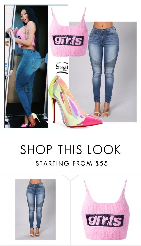 """Nicki Minaj"" by fashiontaurus ❤ liked on Polyvore featuring Alexander Wang and Christian Louboutin"