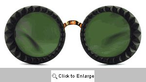 Reprise Textured Designer Sunglasses - 444 Black
