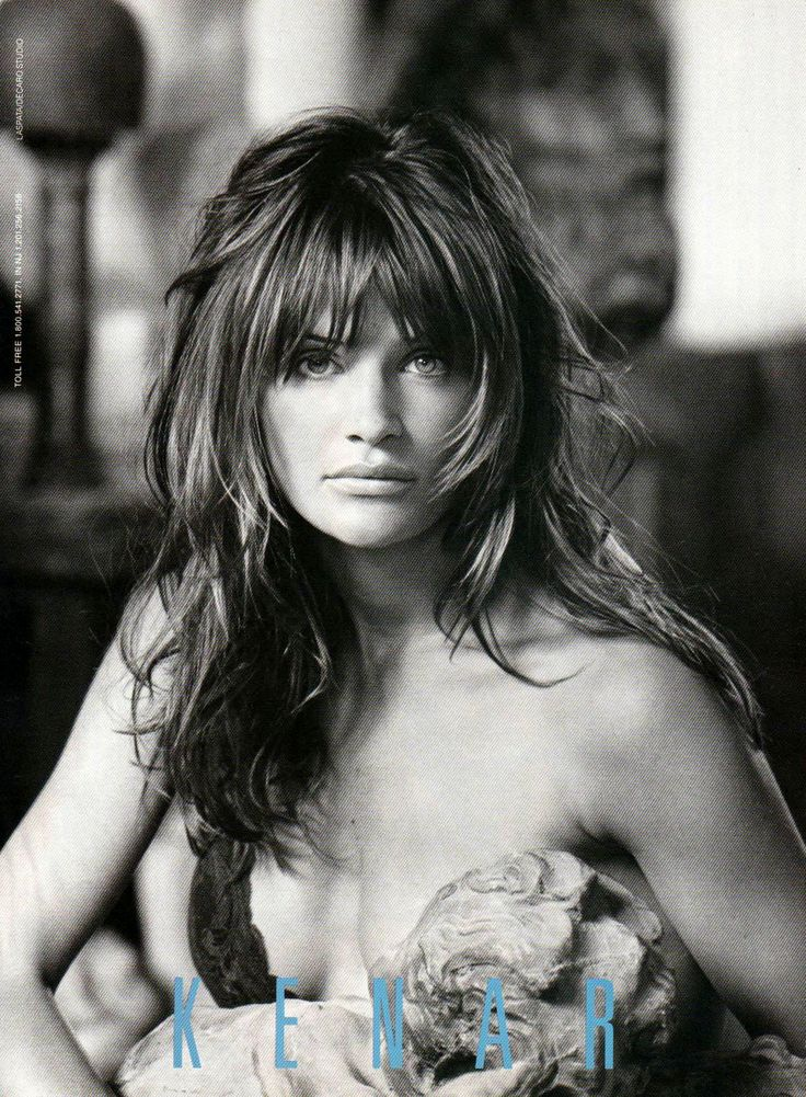 Helena Christensen, 1992 Kenar, Winter Campaign (love her hair, too, Shannon!!)