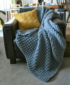 The Hubbie Nubbie Afghan By Angelee Marie - Free Crochet Pattern…