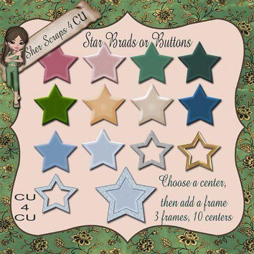 Star Brad or Button Set