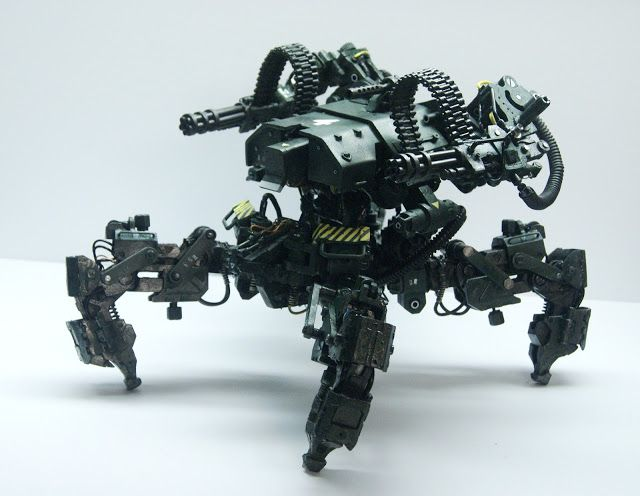 Nuthin' But Mech Site B: QUADROMEK, A spider mech scale resin model from TLEINDUSTRY.
