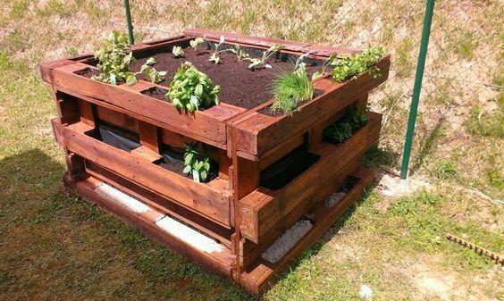 ᐅ Hochbeet aus Europaletten selber bauen | Anleitung | Tipps | Ideen