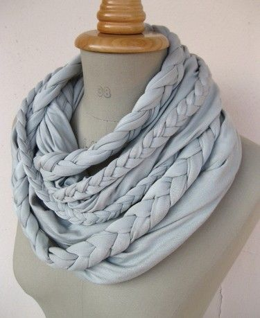 Braided DIY scarf. I think with short hair, this would be awesome for winter!