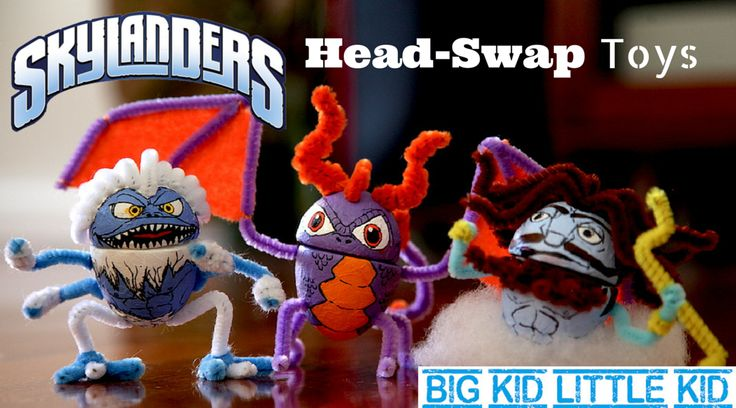 Your Kids will LOVE these easy-to-make Skylanders figures, with swappable heads!