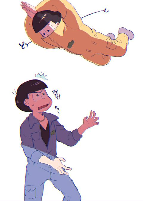 Karamatsu and Jyushimatsu ||| Osomatsu-san Fan Art by カナツキ on Pixiv