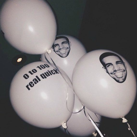 Balloons Drake by SweetBalloonsSupplie on Etsy