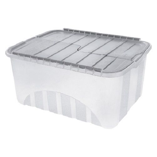 Large Plastic Storage Boxes With Lid Home Office Container Tough Cart Clear Box