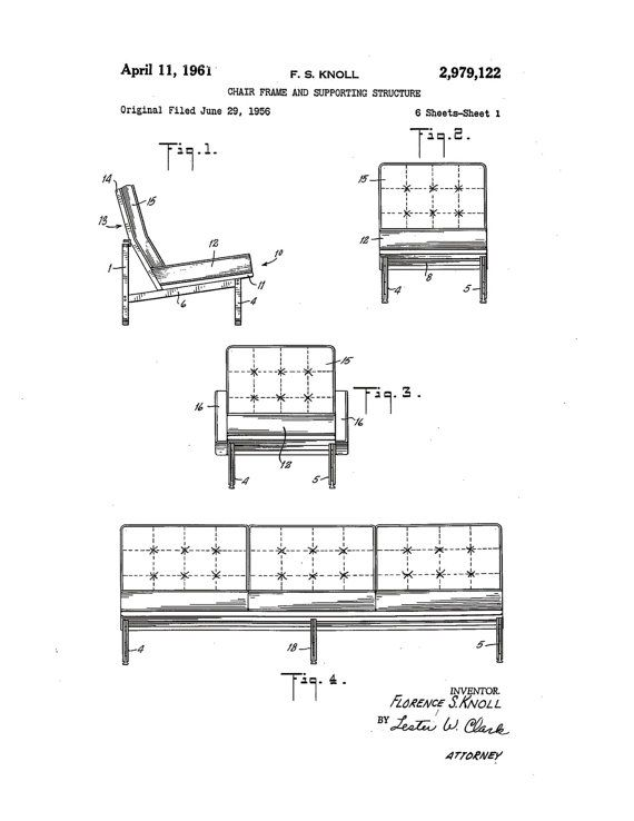 Patent application rendering   Florence Knoll sofa1000  images about finn on Pinterest. Florence Knoll Sofa Dimensions. Home Design Ideas