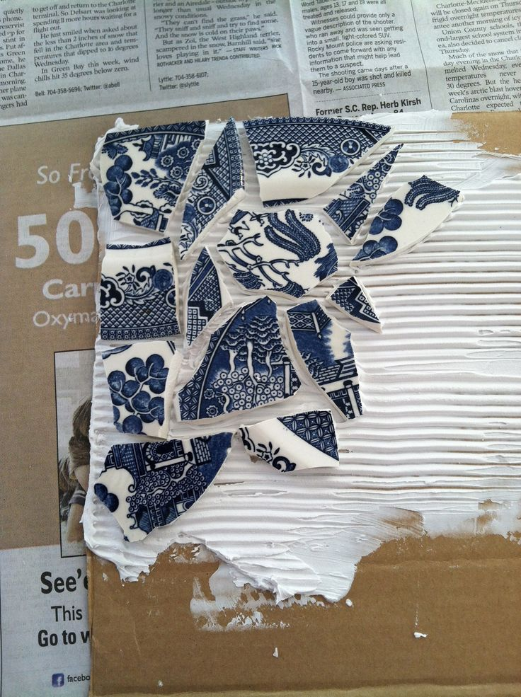 broken china mosaic tutorial