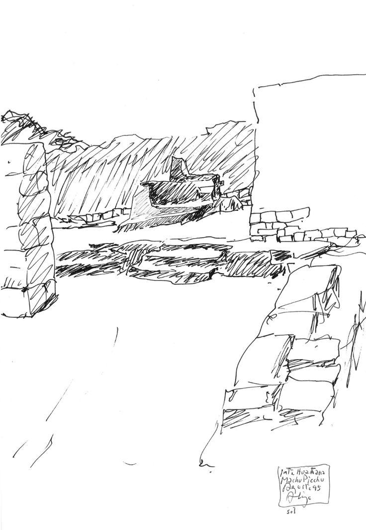 Alvaro Siza's sketch of Machu Picchu ruins