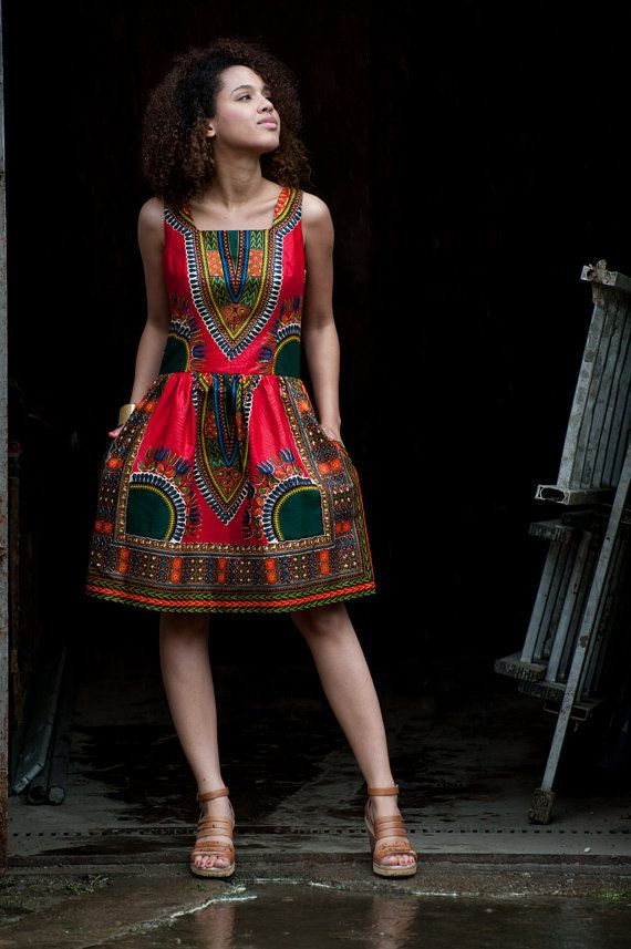 African dress Addis Abeba - corail