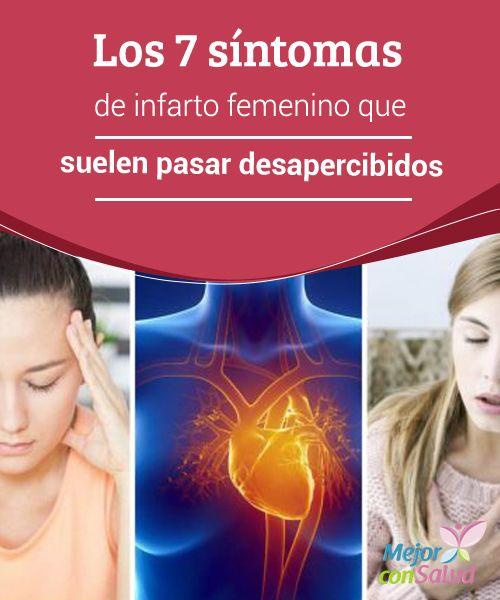 Los 7 síntomas de #infarto femenino que suelen pasar desapercibidos  Puesto que los síntomas de infarto en la #mujer se pueden confundir con otras dolencias cotidianas es imprescindible prestarles atención y, ante la menor duda, acudir al médico #Curiosidades