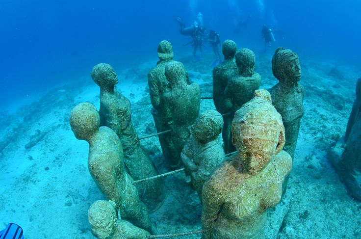 Scuba Diving the Underwater Museum in Cancun Photo and caption by Edmond Leung @Smithsonian Magazine