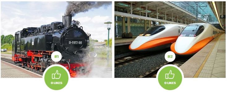 Which type of train do you prefer? Steam locomotive or Modern train