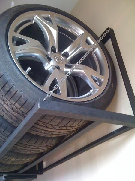 Homemade Tire Rack - Nissan 370Z Forum