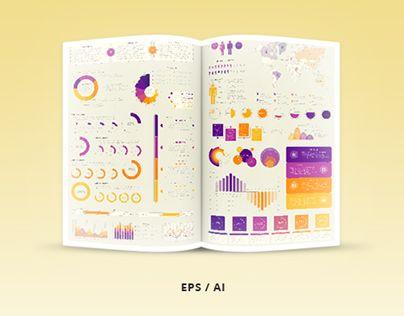 """查看此 @Behance 项目:""""Infographic Elements Template - Vector…"""