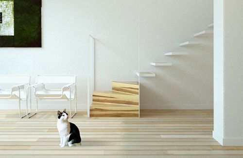 Zwevende trap | Interieur inrichting