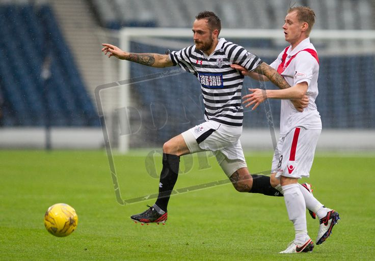Queen's Park's Darren Miller in action during the Betfred Cup game between Queen's Park and Airdrieonians.