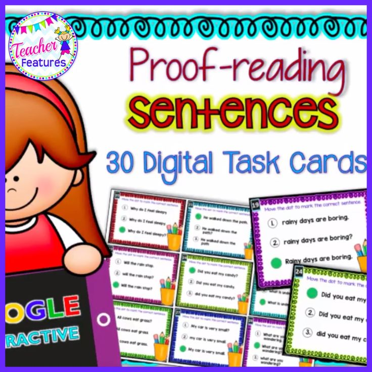 This proofreading set includes 30 digital task cards with drag & drop movable pieces. Designed to work with Google Classroom and Google Slides for literacy. Recognize the distinguishing features of a sentence (capitalization, ending punctuation). CCSS.ELA-LITERACY.RF.1.1.A  #proofreading #CCSS.ELA-LITERACY.RF.1.1.A   #literacycenter #Teacher_Features   #1stgradeliteracy #GoogleClassroom