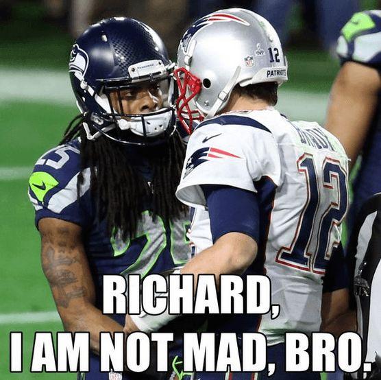Richard sherman tom brady super bowl