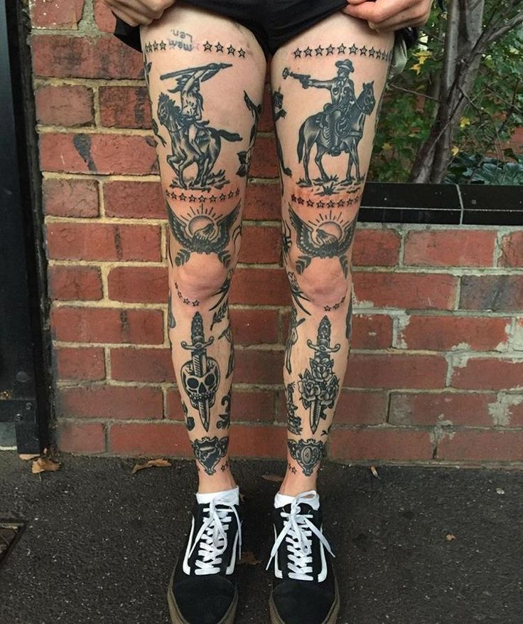 17 beste ideer om Men's Leg Tattoos på Pinterest ...