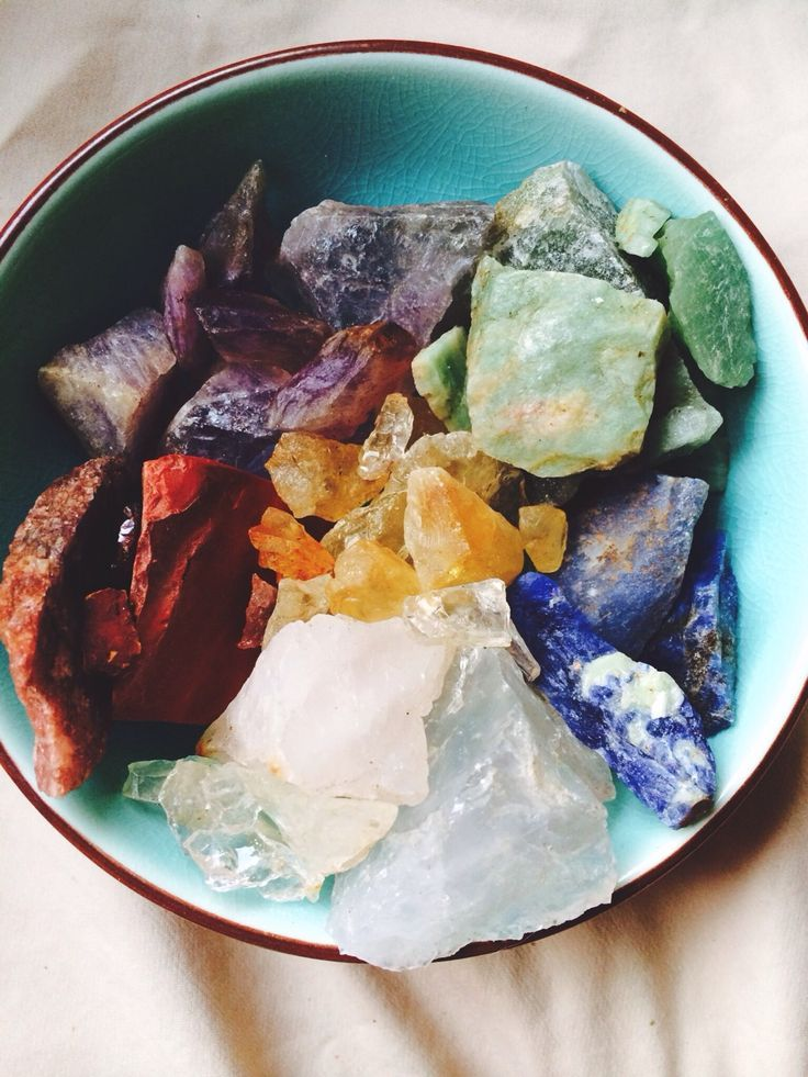 quartz, amethyst, citrine, red jasper, adventurine and sodalite
