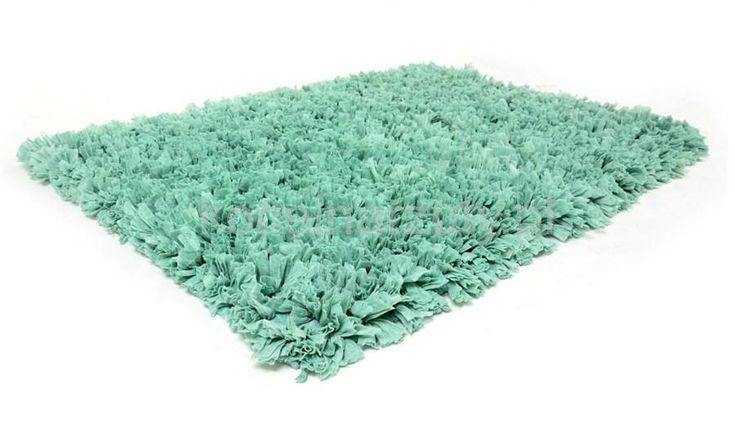 Śliczne nowoczesne miękkie włochate dywaniki łazienkowe w kolorze miętowym