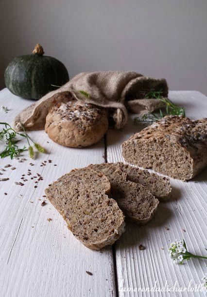Pane integrale con semi di lino, semi di girasole e semi di zucca
