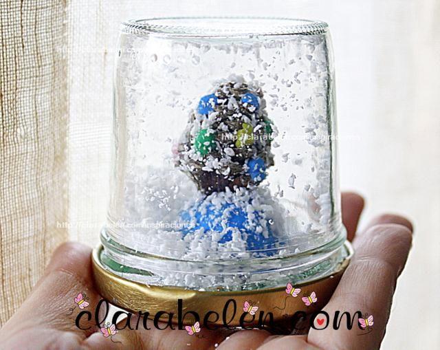 DIY Navidad: Bola de nieve reciclada / Recycled snowball