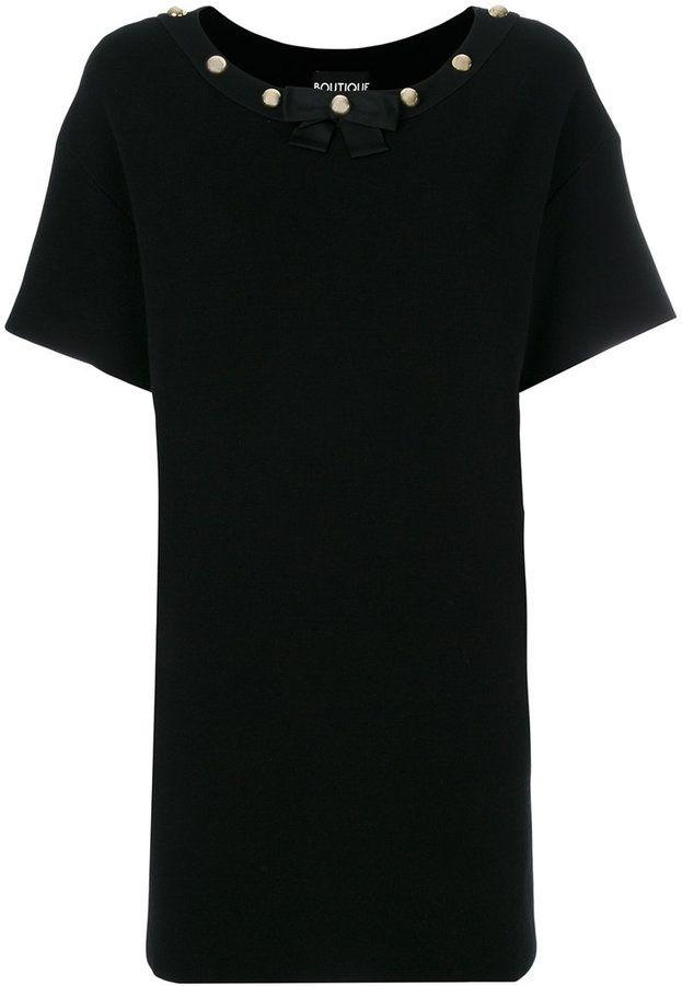Moschino studded collar T-shirt dress