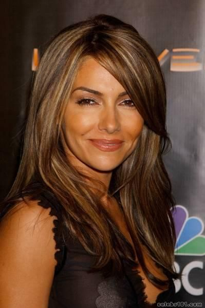 Love the color.Hair Beautiful, Vanessa Marcil, Hair Colors, Dark Hair, Hair Cut, Blondes Highlights, Hair Style, Brown Hair, Caramel Highlights