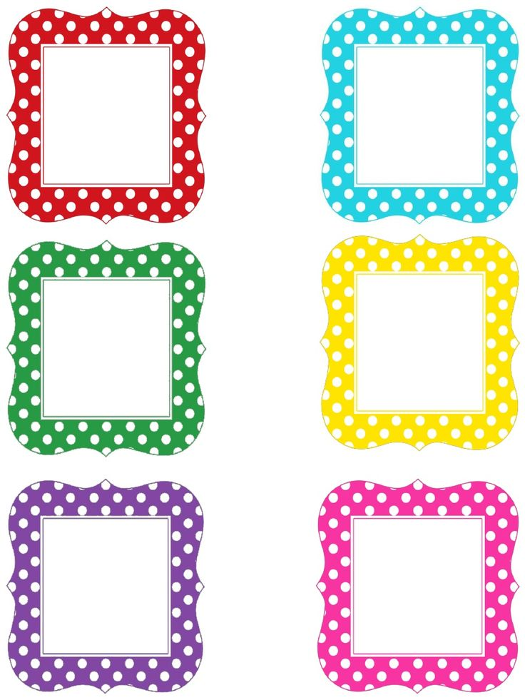 Multi Polka Dot Letters Uppercase