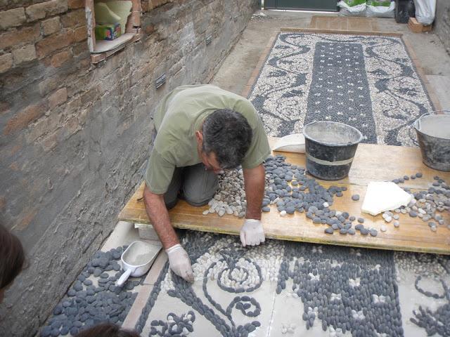 Luciano Bonzini mosaics   Risseu, the cobblestone mosaic pavement, can be found…