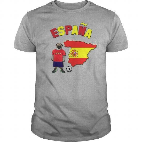 Spain Football World Cup Pug Women's T-Shirts