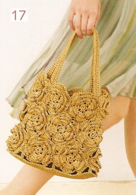 Flower Crochet Bag : Crochet Flower Bag Crochet bags Pinterest