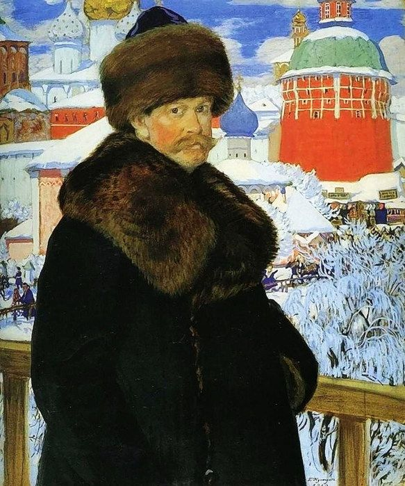 БОРИС МИХАЙЛОВИЧ КУСТОДИЕВ Автопортрет. 1912