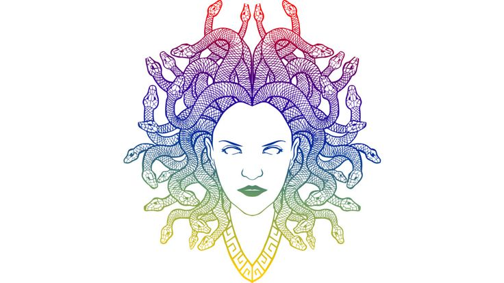 Medusa (color) is a T Shirt designed by griffin45nn9z to illustrate your life and is available at Design By Humans