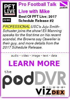 #PROFESSIONAL #PODCAST  Pro Football Talk Live with Mike Florio    Best Of PFT Live: 2017 Schedule Release #2    READ:  https://podDVR.COM/?c=ede5f830-8cb3-28ba-58fc-3d95317f872f